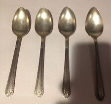 4 Dinner Soup Spoons NATIONAL SILVER PLATE  silverware  NSC EPNS
