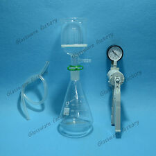 500mL,Suction Filtration Device,Buchner Funnel,Triangle Flask With Vacuum Pump