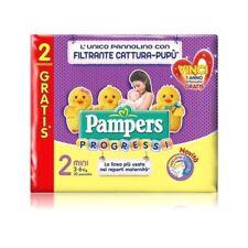 4 pacchi di pannolini Pampers Progressi tg. 2 mini 3-6 kg 120 pannolini totali