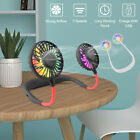 Portable Dual Cooling Sports Fan USB Rechargeable Mini Lazy Neck Hanging Fan US