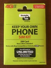 Straight Talk SIM Card for T Mobile GSM Network Activation Kit Free shipping
