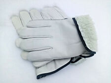 2 PAIRS MENS WORK GLOVES SIZE XL FLEECE LINED HEAVY INSULATION WINTER LEATHER