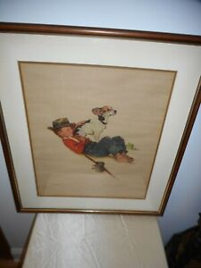 NORMAN ROCKWELL 1956 ORIGINAL SIGNED & NUMBERED (215/300) FRAMED LITHOGRAPH!