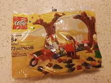 Lego Seasonal Fall Scene (40057) - 72 Pcs - New Sealed Polybag