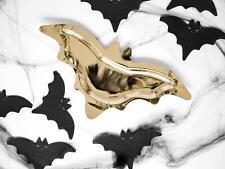 Halloween Paper Plates - Gold Bat Plates - Halloween Decorations x6
