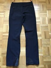PRADA Milano Hose Damen schwarz Gr. 34/36 mit Lederbesatz