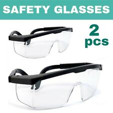 2 pcs Safety Glasses Work Goggles Eyewear Protective Industrial Dust Droplets