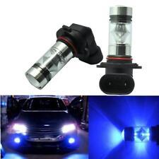 Pair 9145 H10 100W 10000K Blue LED Projector DRL Fog Driving Light Bulb lamp