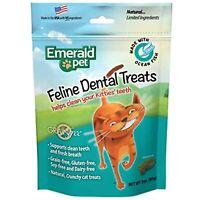 Emerald Pet Feline Dental Crunchy Natural Grain Free Cat Treats, Made in USA, 3