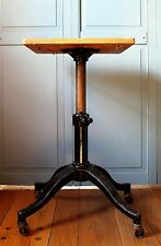 Adjustable Antique Cast Iron Industrial Typewriter Table Vintage Satellite Karlo