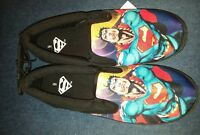 Mens BioWorld DC Comics superman Black Canvas SlipOn Shoes Size 9 New With Tags