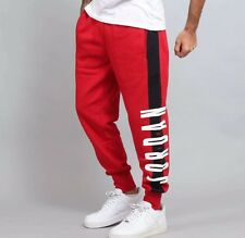 New Mens Air Jordan Jumpman Seasonal Graphic Pants 845387-687 Red/Black Size 3XL