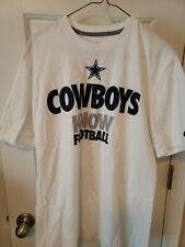 New Nfl Nike White Cowboys Know Football Men's T-Shirt Size Xl