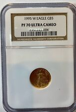 1995-W American Gold Eagle $5 Tenth-Ounce Proof PF 70 Ultra Cameo NGC 1/10 oz.