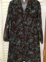 The Territory Ahead Dress Size 10 Corduroy Long Sleeve Zip Up Dress Cotton