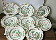 More details for 8 x large indian tree vintage soup  plates pink blossom ideal for xmas
