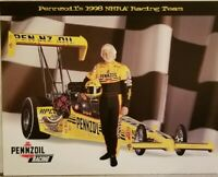 Eddie Hill Pennzoil Top Fuel Dragster NHRA Drag Racing Handout 1998 Hero Card