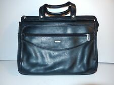 very old Vintage, Solo tote large black leather bag