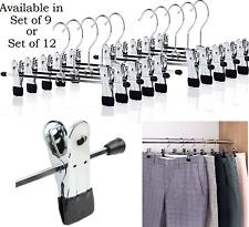 New Strong Metal Clip Hangers Clothes Coat Waistband Trouser Skirt Non-slip Rack