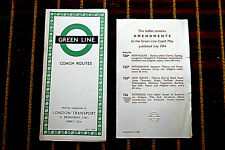 More details for london transport green line coach map july 1954 754/1513s/50,000 with amendments
