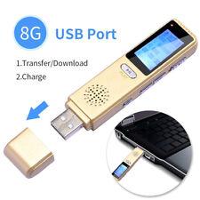 8GB MICRO MINI REGISTRATORE VOCALE SPY SPIA VOICE RECORDER AMBIENTALE PEN USB