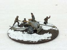 1/72 Scale Pro Built Made Model german WW2 75 mm cannon diorama Soldiers Crew