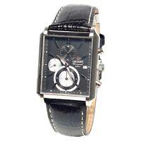 Cronografo Orient Uomo al quarzo in acciaio Japan Gruppo Seiko in pelle STTAE002