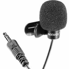 3X Neewer 3.5mm Hands-free Clip on Mini Lapel Microphone Mic for Computer PC