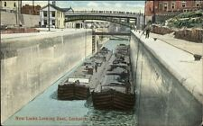 Lockport NY New Locks Looking East c1910 Postcard