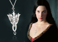 White The Lord Of Rings Arwen Evenstar Silver Crystal Personality Necklace Gift