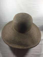 Louise Green Wide Brim Brown Hat 7 1/8