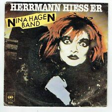 "Nina HAGEN BAND Vinyle 45 tours 7"" SP HERRMANN HIESS ER - WAU Rock Punk CBS 8234"
