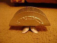 Vintage Hammered Aluminum Decorative Napkin Holder