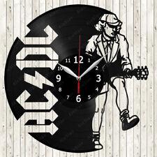 AC/DC Music Vinyl Record Wall Clock Decor Handmade 1866