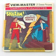 Vintage View-Master 3-Reel Set B550  SHAZAM! The Return of Black Adam (1975)
