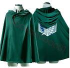 Attack on Titan Shingeki no Kyojin Scouting Legion Halloween Cosplay Cloak Cape
