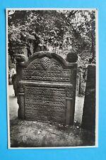 Tschechien CZ AK Sara Katz-Ová 606 Grabstein Tombe Hebräisch Judaika 1930s-1940s