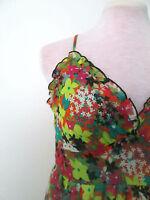 Womens Avocado sz 8 Flower Ruffle Dress