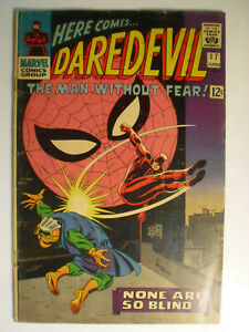 Daredevil #17, None Are So Blind, Spiderman App, Very Good, 4.0, Off-White Pages