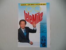 advertising Pubblicità 1988 TELEMIKE TELE MIKE (BONGIORNO) - CANALE 5