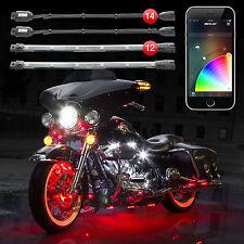 14 Pod 12 Strip XKchrome App Control Motorcycle Professional LED Light Kit