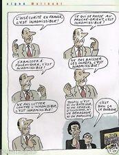 Publicité advertising 2002 Dessin signé Wolinski...... Chirac