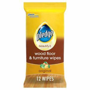 Pledge Beautify it Wood Floor & Furniture Wipes - 12 Wipes - Free Postage