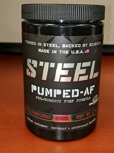 Steel Supplements Pumped AF / Pre-Workout / Pump / CLUMPY Strawberry Watermelon