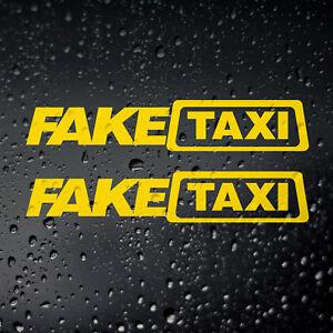 Fake Taxi Car Sticker x 2 - JDM Drift Euro DUB Rat Look Stance Air Hydro