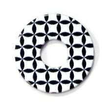 Das Original RING DING Scheibe Flower of Life black and withe Acryl 22mm