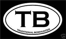 Traditional Bow hunter Decal Sticker archery buck deer