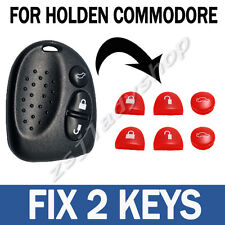 2 Set Red Key Buttons Remote Repair For Holden Commodore VS VT VX VY VZ WH WK WL