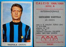 FIGURINA CALCIATORI CALCIO EDIS INTER 1968/69 - VASTOLA