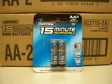 RAYOVAC IC3 15-Minute 2300mAh NiMH 2-pack AA Batteries - NEW in Sealed Package